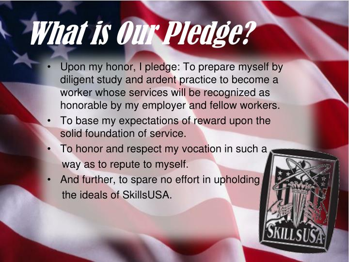 What is Our Pledge?
