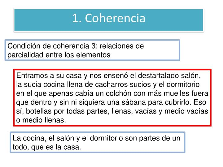 1. Coherencia