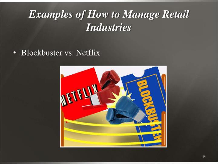 Examples of How to Manage Retail Industries