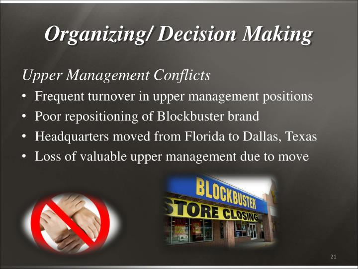Organizing/ Decision Making