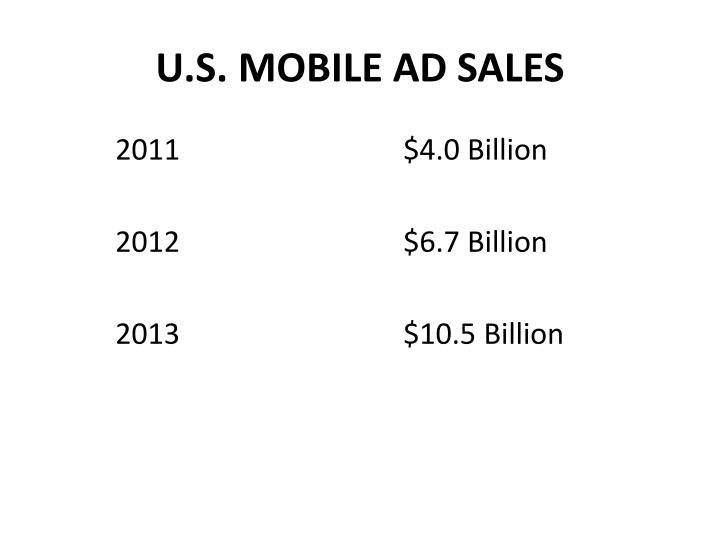 U.S. MOBILE AD SALES