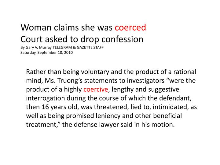 Woman claims she was