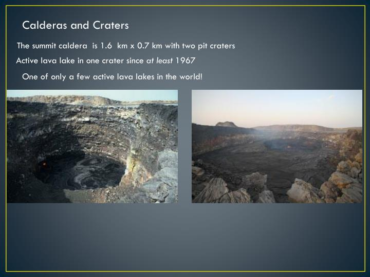 Calderas and Craters