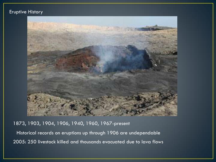 Eruptive History