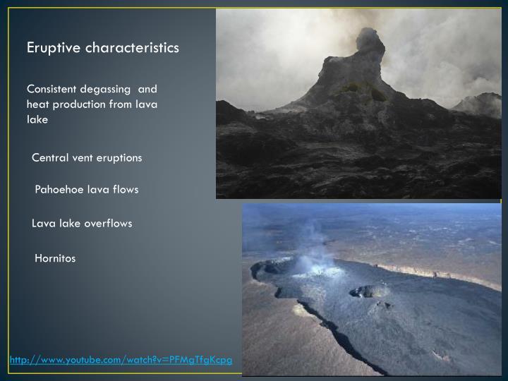 Eruptive characteristics