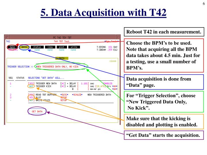5. Data Acquisition with T42