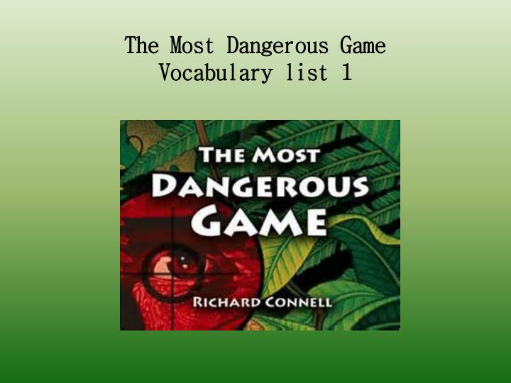 the most dangerous game character analysis