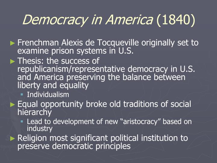 Democracy in america 1840