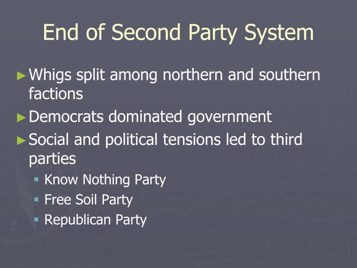 End of Second Party System