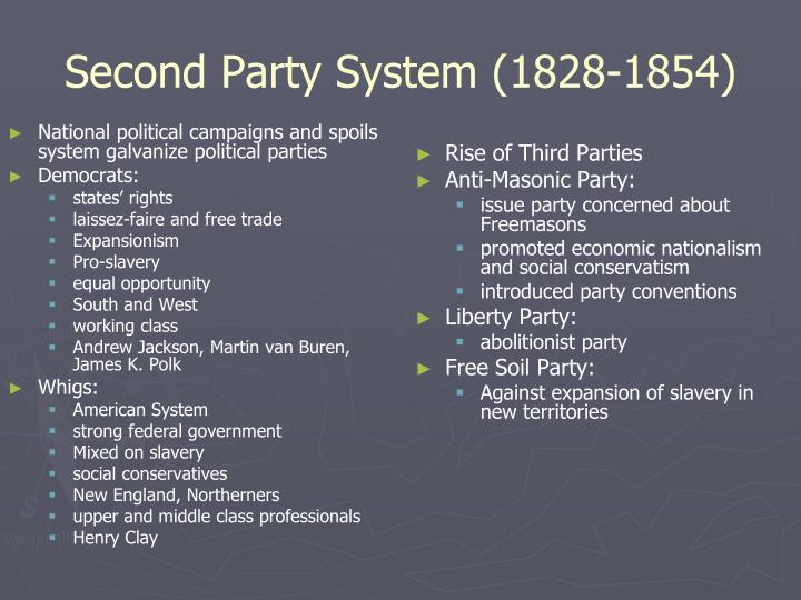 National political campaigns and spoils system galvanize political parties