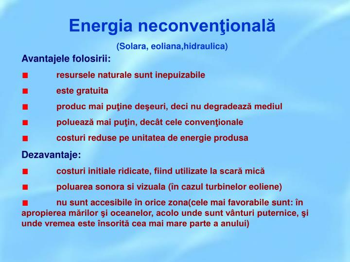 Energia neconvenţională