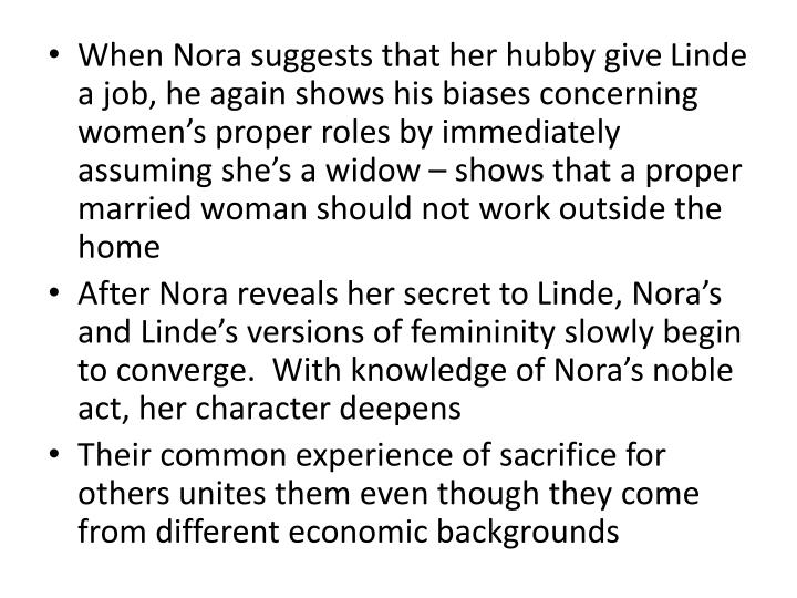 When Nora suggests that her hubby give