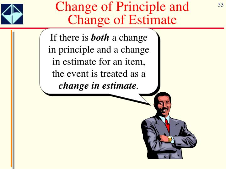 Change of Principle and