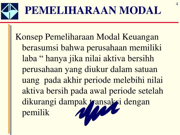 PEMELIHARAAN MODAL