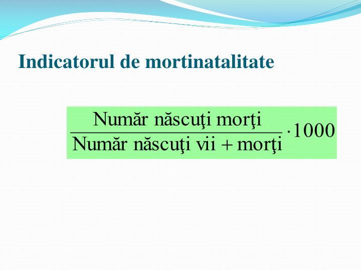 Indicatorul de mortinatalitate