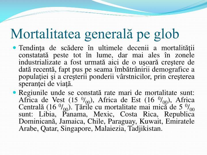 Mortalitatea generală pe glob