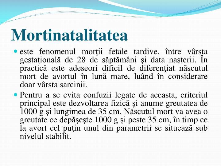 Mortinatalitatea