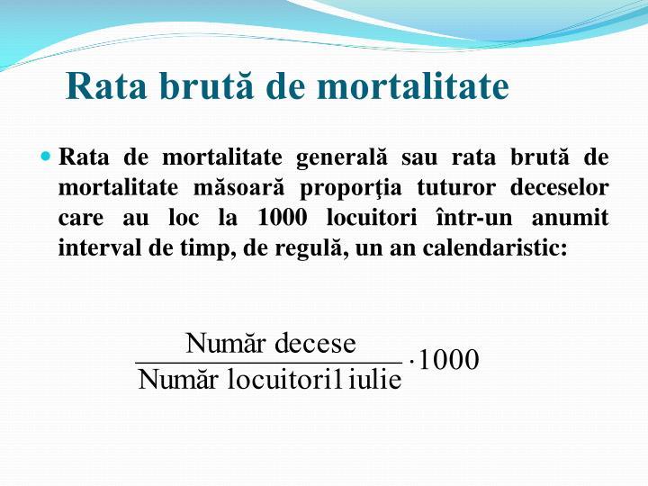 Rata brută de mortalitate