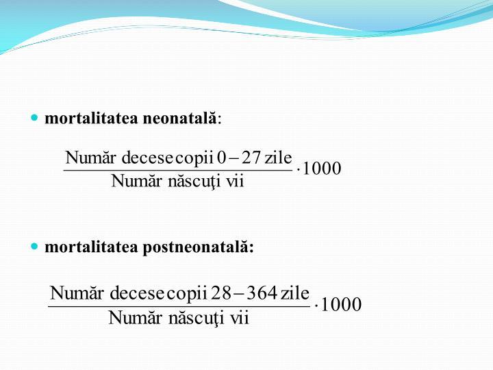 mortalitatea neonatală