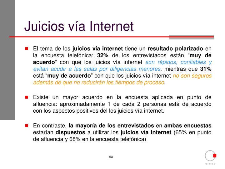 Juicios vía Internet