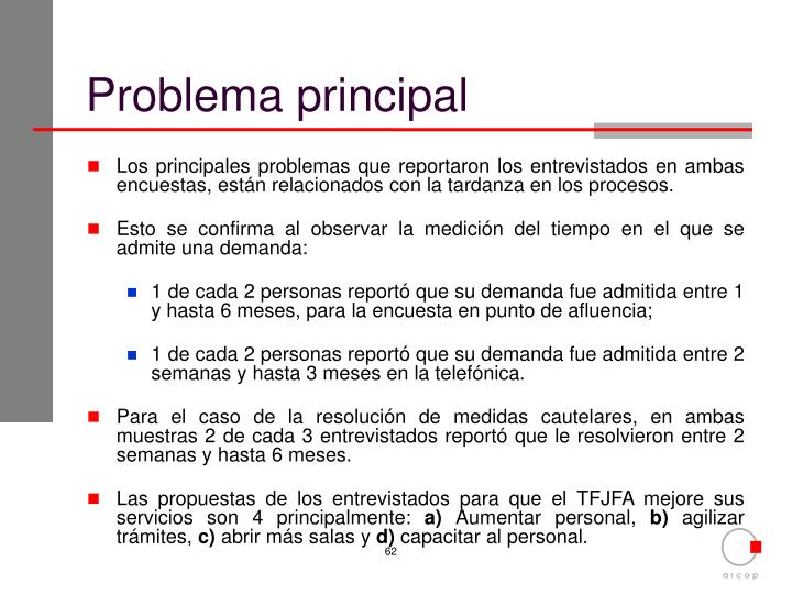 Problema principal