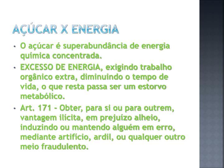 Açúcar X Energia
