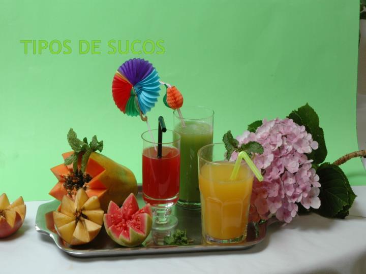 TIPOS DE SUCOS
