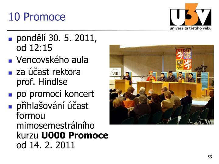 10 Promoce