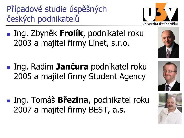 Případové studie úspěšných českých