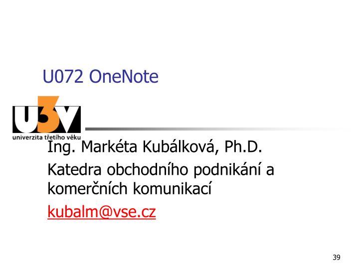 U072 OneNote