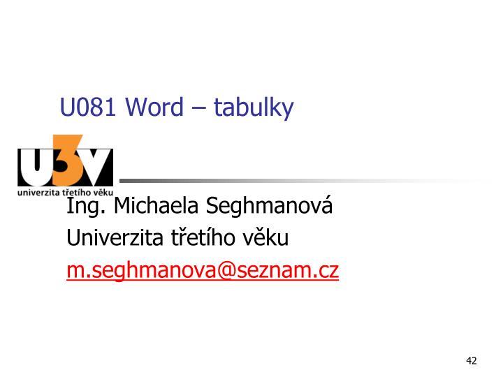 U081 Word – tabulky
