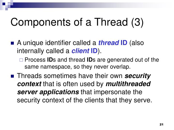 Components of a Thread (3)