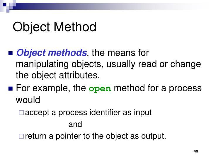 Object Method