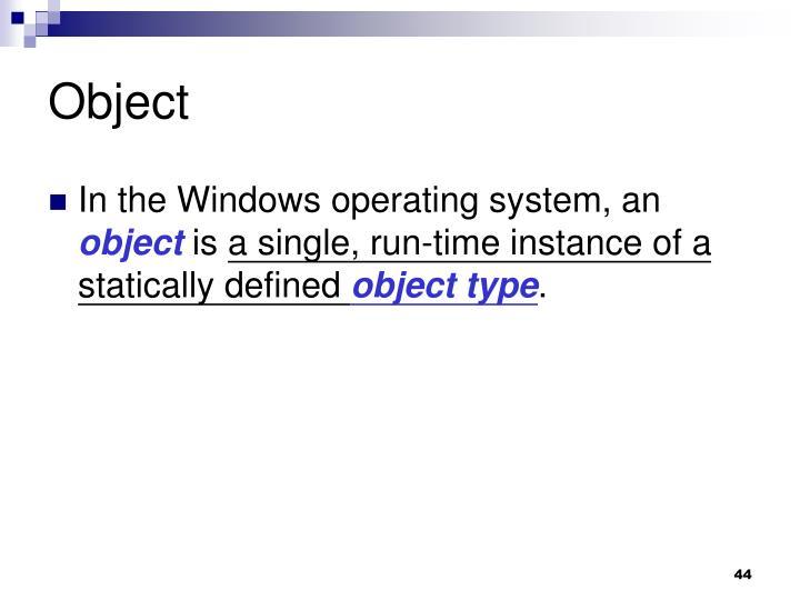 Object
