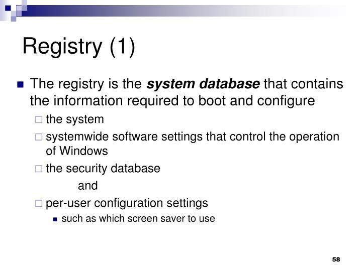 Registry (1)