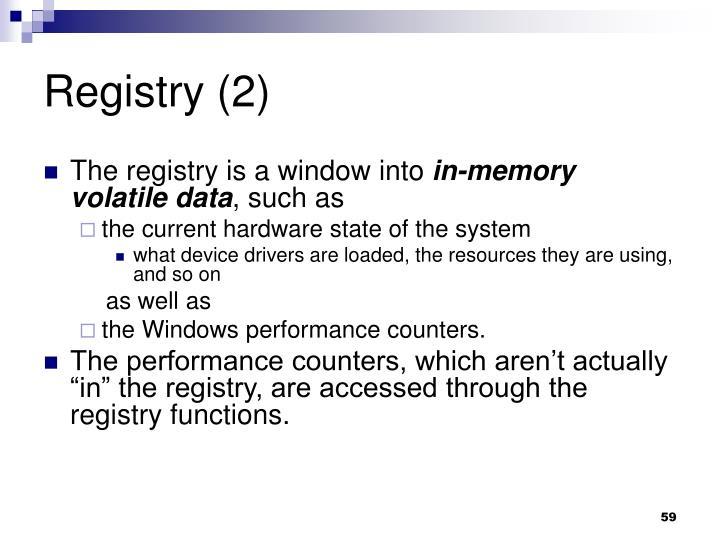 Registry (2)