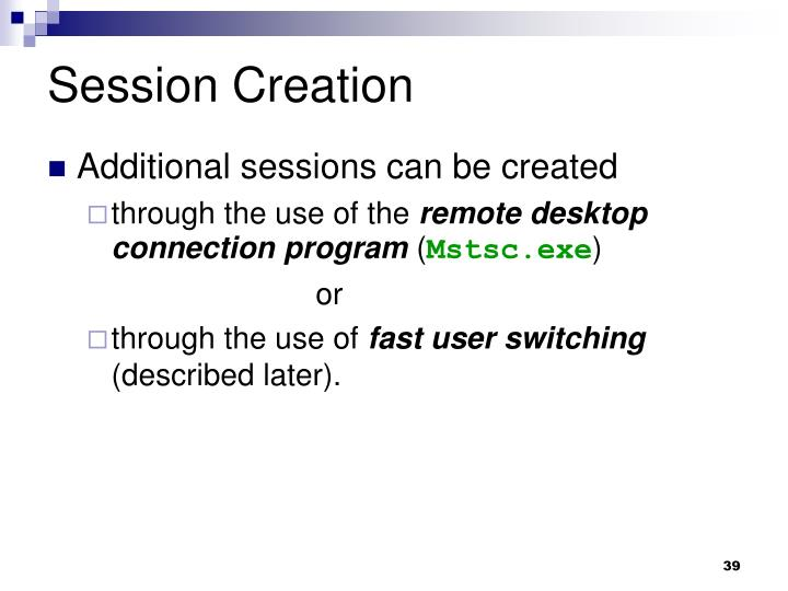 Session Creation