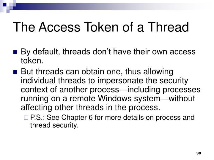 The Access Token of a Thread