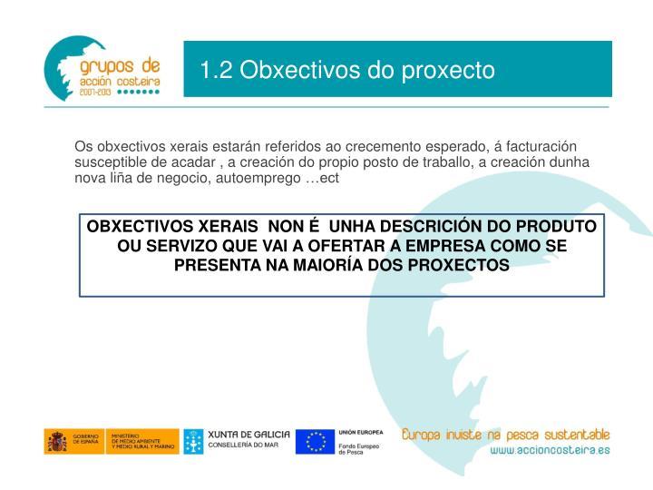 1.2 Obxectivos do proxecto