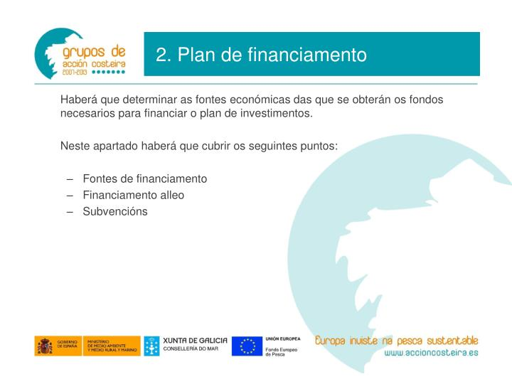 2. Plan de financiamento