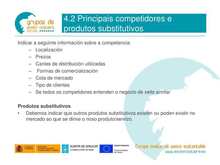 4.2 Principais competidores e produtos substitutivos