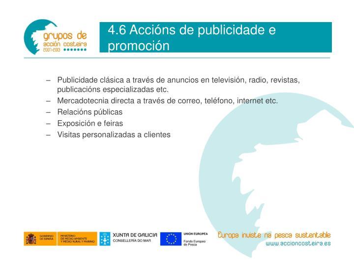 4.6 Accións de publicidade e promoción