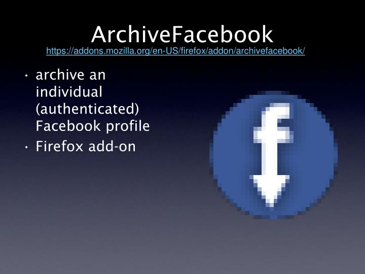 ArchiveFacebook