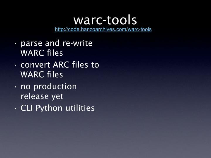 warc-tools