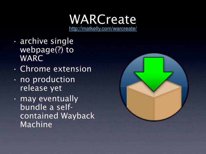 WARCreate
