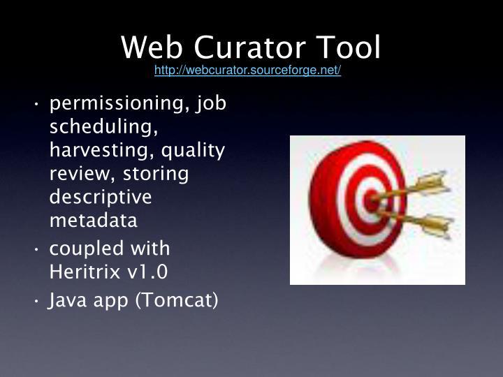 Web Curator Tool