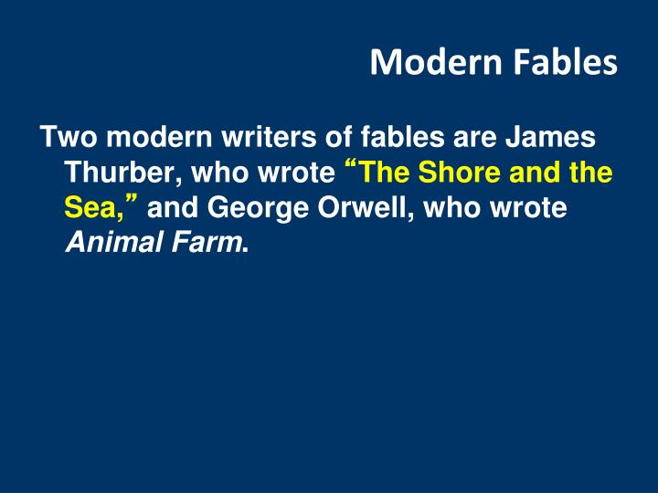 Modern Fables