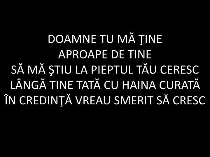 DOAMNE TU
