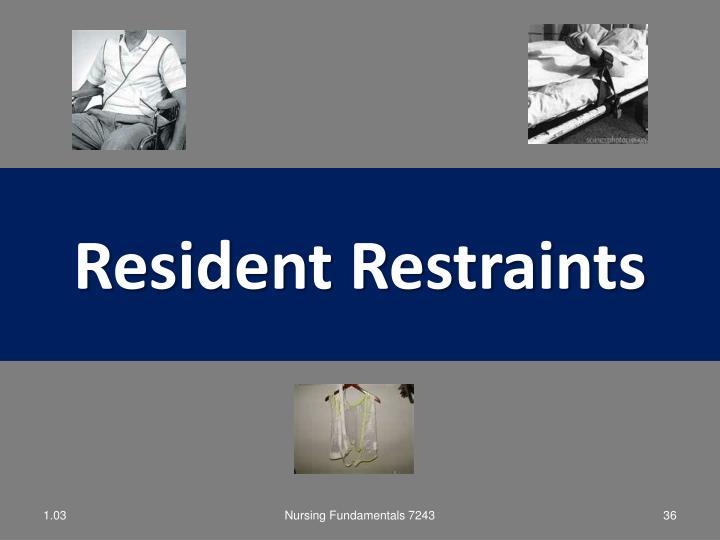 Resident Restraints