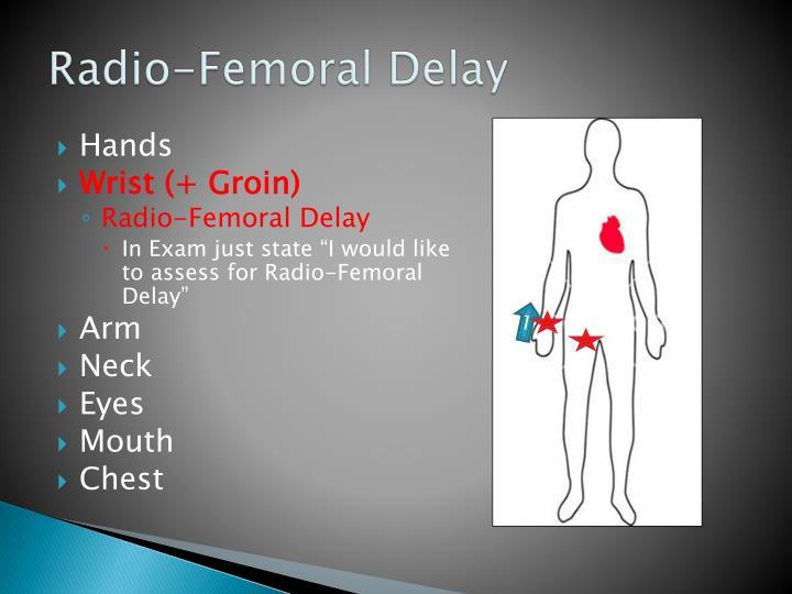 Radio-Femoral Delay